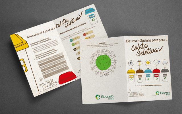 Eldorado folder Coleta Seletiva